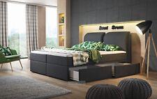 Boxspringbett Brunei mit Bettkasten und Farbauswahl 140, 160 oder 180x200 cm NEU
