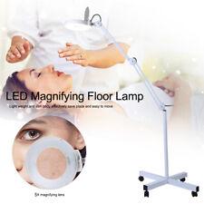 15W LED Kaltlicht LupenleuchteTischklemme  Linse 5 Dioptrien mit Standlupe HH D8
