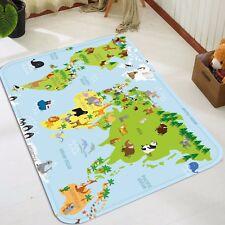 3D Green World Map 48 Non Slip Rug Mat Room Mat Quality Elegant Photo Carpet CA