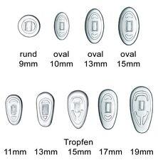 3 Paar (6 Stück) Nasenpads / Brillenpads - Silikon Klicksystem, verschie. Größen