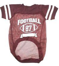 Martha Stewart Pets Dog Football Jersey Bark Athletics 87 Shirt Clothes Apparel