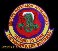 XL 2ND BATTALION 4TH US MARINES PATCH 2/4 WORLD WAR 2 VIETNAM MCB CAMP PENDLETON