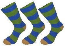 Ladies Girls Lazy Jacks Cosy Feather Stripe Loungewear Bedsock Socks 3 Pair Pack