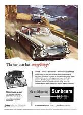 Sunbeam Rapier , Old British Motoring advertising wall art poster reproduction.