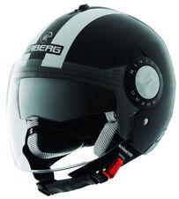 CABERG RIVIERA V2+ LEGEND BLACK/WHITE OPEN FACE MOTORCYCLE HELMET