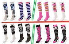 NEW Star Wars Socks Ladies Knee High R2D2 Pink Trooper  Rebel Empire 2 PAIRS!