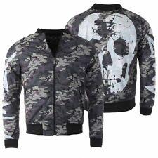 Yakuza Herren Stealth Skull Bomberjacke camouflage Skull Totenkopf Print JB14024