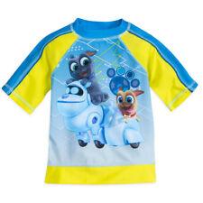 NWT Disney Store Puppy Dog Pals Rash Guard Swim Shirt Top Boy UPF 50+