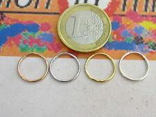 2 anellini grandi saldati del diametri di 13 mm in argento 925 4 colori a scelta