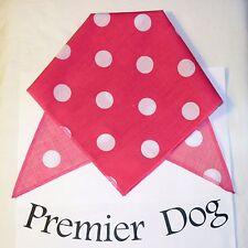 Pink & White Polka Dot Dog Bandana / Scarf - 3 sizes to choose from!