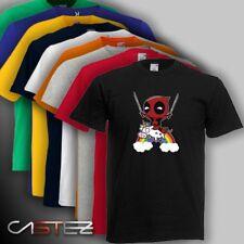 Camiseta Mini deadpool chibi unicornio antiheroe friki freak ENVIO 24/48h