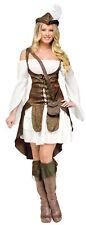 Robin Hood Adult Women's Costume Brocade Weskit Shoulder Fancy Dress Funworld