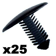 Clip Plastica per Paraurti Auto 25 Pezzi Punta 7-8mm - Testata 28mm