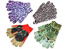 Damen Mädchen Handschuhe Fingerhandschuhe dünnere wollart Tiermotiv Gr. M  NEU
