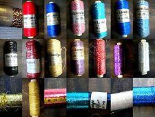 Beilaufgarn, metallisiert, Madeira, Lamè, Stricken Häkeln Nähen  Sticken Vintage