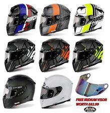 AIROH GP500 FULL FACE MOTORCYCLE HELMET RACE HELMET ACU GOLD *FREE IRIDIUM VISOR