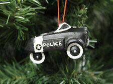 Police Pedal Car Christmas Ornament