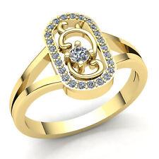 1carat Round Cut Diamond Ladies Bridal Split Shank Fancy Ring 14K Gold