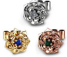 Deslumbrante Flor Cristal Estrás Pendientes de Flores-Plata, Oro, Oro Rosa-Reino Unido