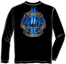 Erazor Bits Apparel Long Sleeve T-Shirt Bravery High Honors Firefighter Black