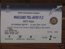 MACCABI TEL AVIV AJAX HOLLAND TICKET CHAMPIONS L. 04