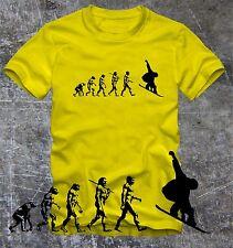 "T- Shirt  Snowboard Evolution Snowboarder  ""Digitaler Direktdruck"""