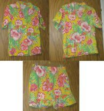 Cheryl Tiegs Vintage 1980's Bright Hawaiian Shirts (10, 12) and Shorts (L)