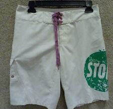 "Volcom Stone Women's Shorts "" Miss Modulator"" , Color White/Green"