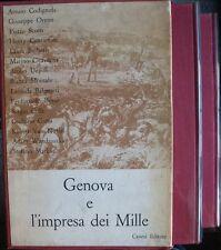 GENOVA E L'IMPRESA DEI MILLE, Canesi 1961 due  volumi