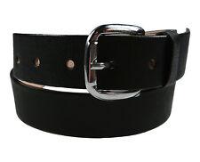 "Men's Heavy Duty Leather Belt Anca de Potro 1 1/8"" Wide Black Cinto Fino"