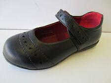 Niña Spot On Negro Piel Sintética Zapatos Gb 8-2 H2279