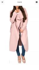 Lungo Cappotto Oversize Con Cintura Cascata in baby rosa Taglia 8-14 (prezzo consigliato £ 49.99)