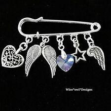 Precioso Gardian Angel Pin Broche * gran idea del Regalo * Caja De Regalo O Terciopelo Bolsa.
