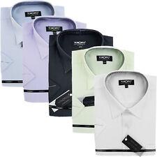 Herren Hemd Hemden Shirt Oberhemd Hochzeit Hemd Kurzarm New  (2)
