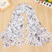 160 NOTE MUSICALI 50 cm X064 moda donna sciarpe in Chiffon Sciarpa scialli da donna