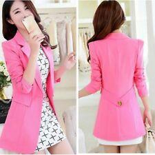 traje chaqueta de mujer ceñido larga manga larga rosa claro verano S9025