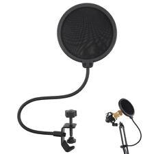 Double Layer Studio Microphone Mic Wind Screen Mask Gooseneck Shield Pop Filter