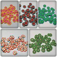 50 x pate fimo cabochons - 6mm-fruits [divers designs disponible]