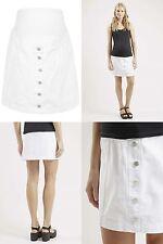 Topshop Maternity Denim Jeans Button Front A-Line Skirt Size 8 10 12 14 16 BNWT