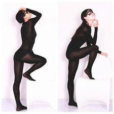Ladies Lycra Spandex Bodysuits Stretch Crotchless Sheer Leotard Playsuit Cosplay