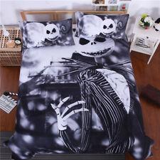 3pcs/set The Nightmare Before Christmas Jack Skellington Quilt Cover Beddingf Ho