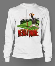 Puppy Monkey Football Funny T shirt Pro Club Custom Tshirt Long Sleeve