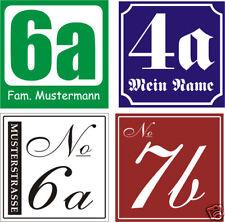 Hausnummer-Schild  Kunststoff witterungsb. Wunschzahl 220 x 220 x 4 mm