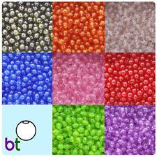 BeadTin Transparent 10mm Round Plastic Beads (150pcs) - Color choice