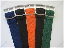 Premium Perlon Watch Strap Black Brown Blue Green Orange Beige Gray 22mm 24mm
