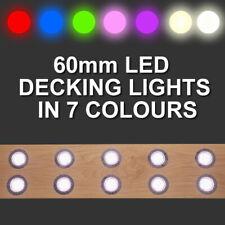 60mm LED Decking/Plinth/Kickboard/Kitchen/Garden Lights - Set of 10 Kit