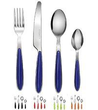 Exzact 24 PCS Cutlery Set Premium Stainless Steel Black Red Blue Orange Green
