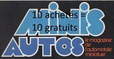 REVUE MAGAZINE  AUTOS MINIS du N°1 au N°106 de 1975 à 1986 au choix