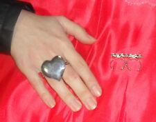 anello doppio dito CUORE PL ARGENTO made in italy