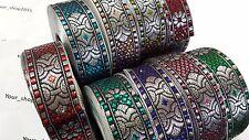 2 Yard Beautiful stylish embroidered pattern lace trimming ribbon  making craft